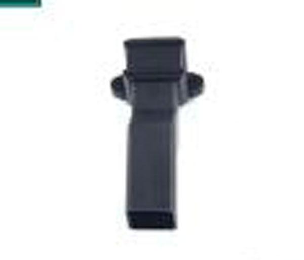 65mm Square Pipe Antisplash Shoe Black