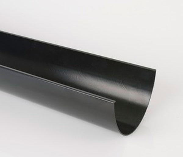 170mm Industrial Gutter 2m Length Black