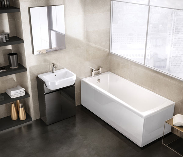Sustain 1600x700 Square Single Ended Bath