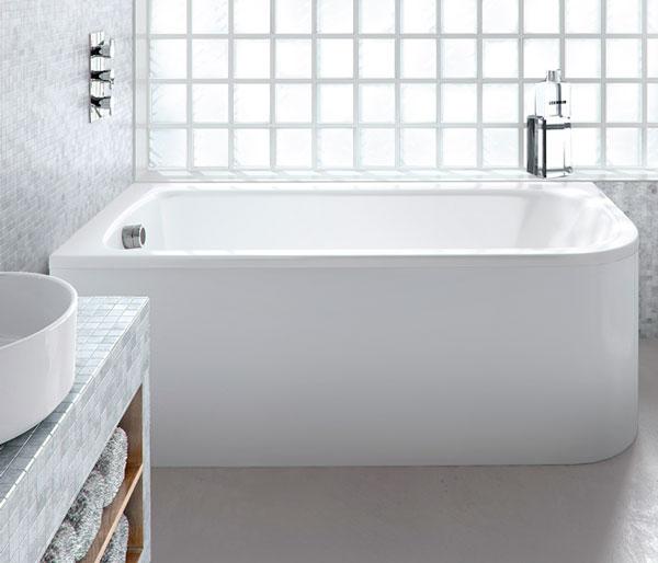 Viride Curved Bath 1700x750 Left Hand