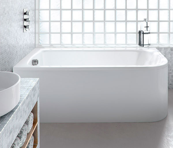Viride Curved Bath 1800x750 Left Hand