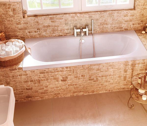Verde 1700x700mm Double Ended Bath