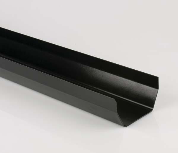 Squarestyle Black Gutter 2 Metre Length