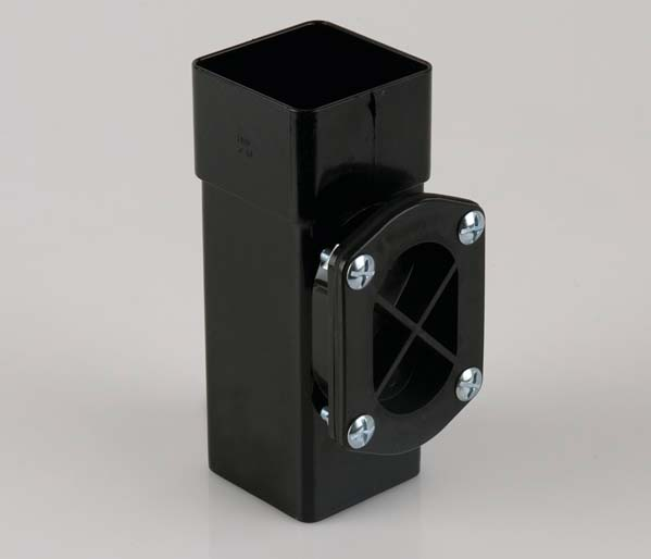 Squarestyle 65mm Black Downpipe Access Pipe