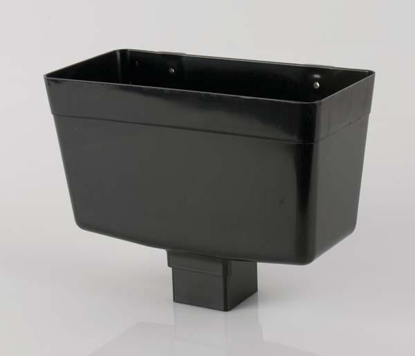 Squarestyle 65mm Black Downpipe Hopper