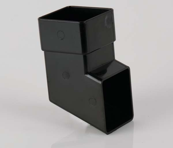 Squarestyle 65mm Black Downpipe Shoe