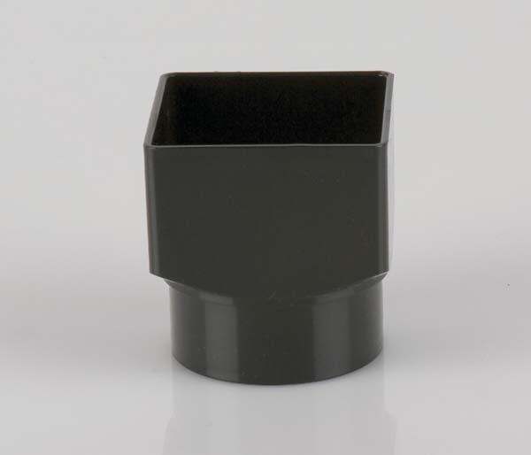 Squarestyle 65mm Black Downpipe Rnd Adaptor