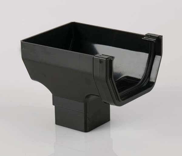 Squarestyle Black Gutter Stopend Outlet