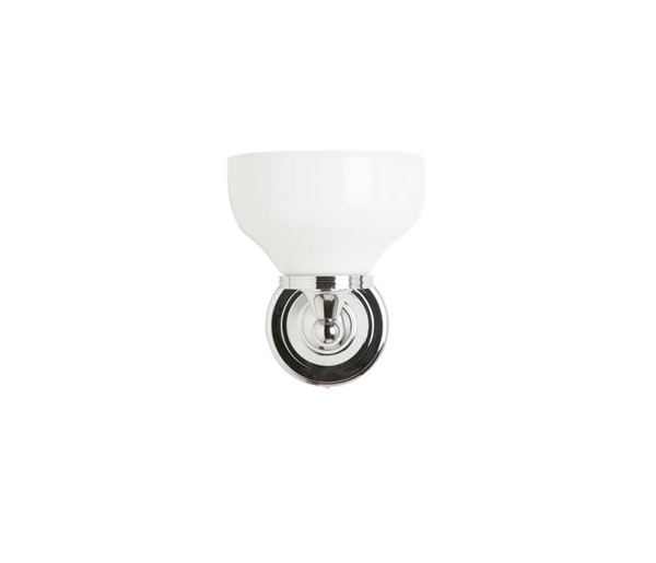 Round Wall Light With Cup Shade