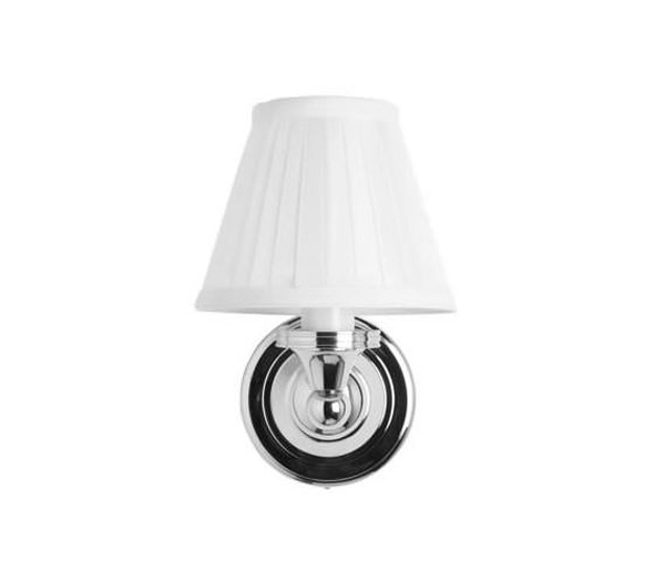 Burlington Wall Light White Fine Pleat Shade