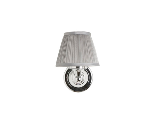 Burlington Wall Light with Chiffon Silver Sha