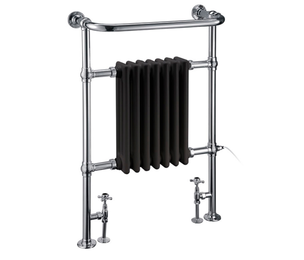 Burlington Trafalgar Radiator Black/Chrome