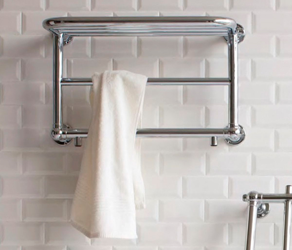 Burlington Strand Radiator White/Chrome