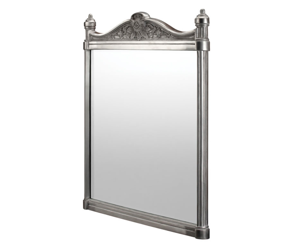 Burlington Brushed Aluminium Mirror 550x750mm
