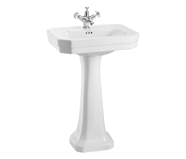 Victorian Basin with Full Pedestal 560x470mm
