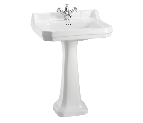 Burlington Edwardian Basin & Pedestal 610x510