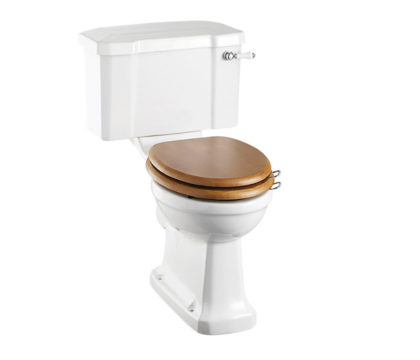 Burlington Rimless Close Coupled Toilet + Sea