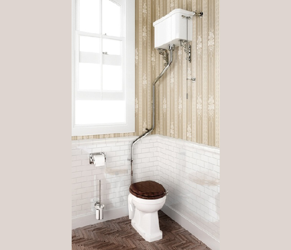Burlington High Level WC Angled Flush Pipe