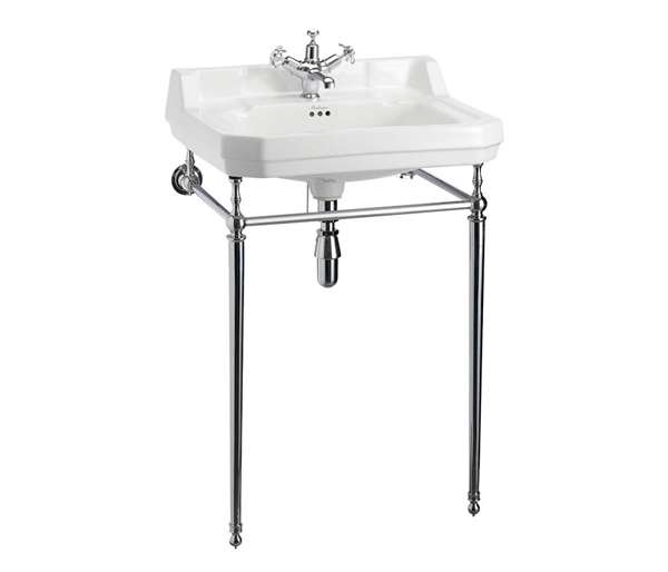 Edwardian Basin + Chrome Washstand 610x510mm