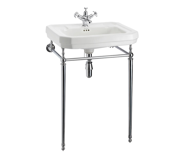 Victorian Basin + Chrome Washstand 610x510mm