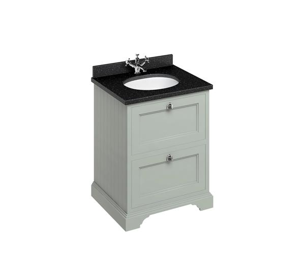 Burlington Vanity Unit 670x550mm Olive