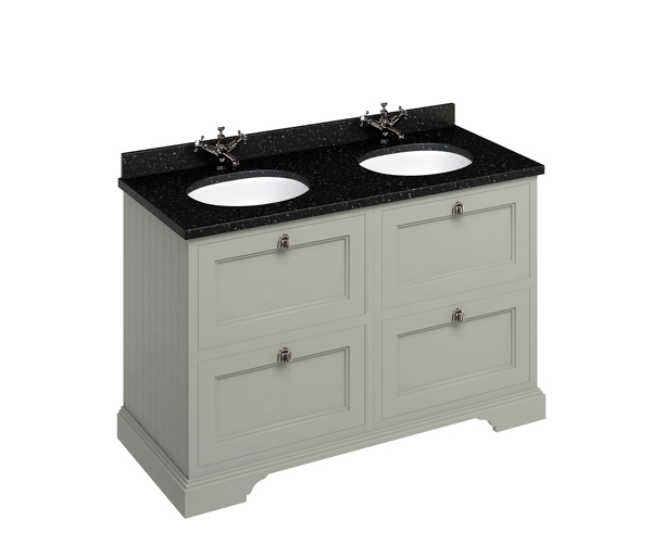 Burlington Double Vanity Unit 130x55 Olive