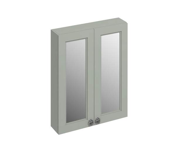 Burlington Mirror Wall Cabinet 600X150 Olive