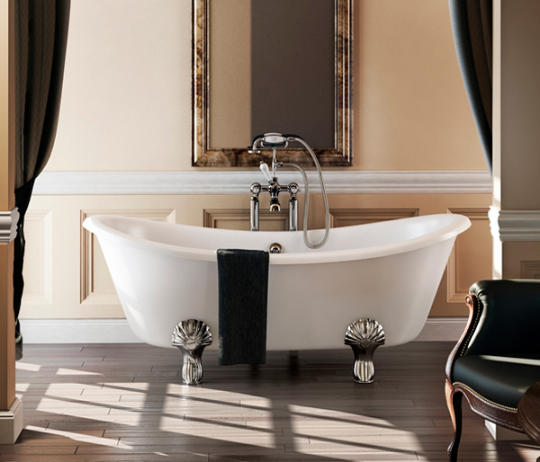 Burlington Double Ended Bateau Bath 1640x700m