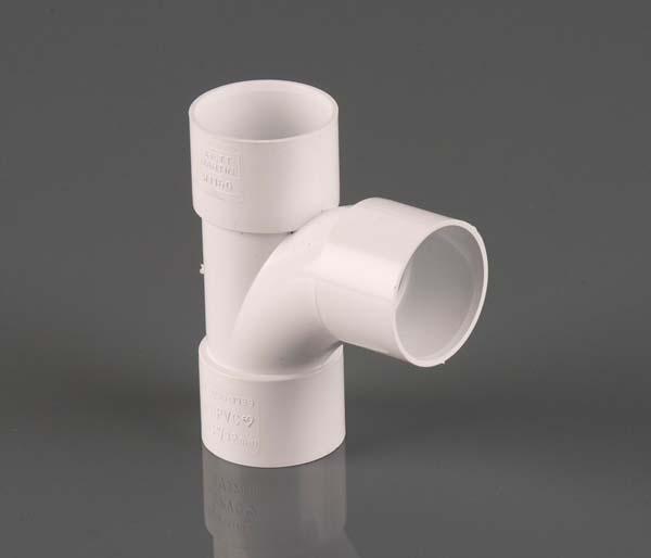 Solvent Weld 32mm White 92.5\' Swept Tee