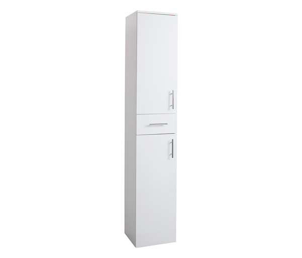 Kass 350mm Tall Storage Unit White Gloss
