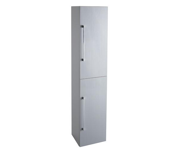 Idon 300mm Two Door Tall Storage Unit Grey