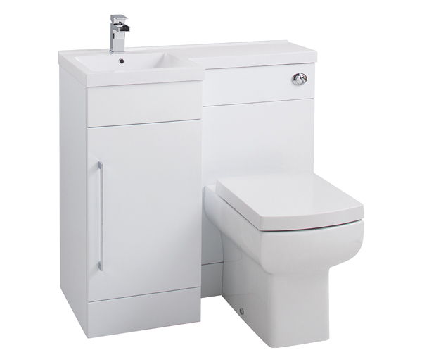 Maze L Shaped Furniture White Gloss 900mm