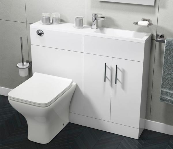 Slimline White Gloss Furniture 995mm