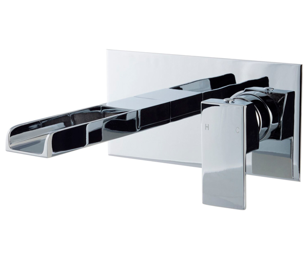 Dunk Waterfall Spout Wall Mounted Basin Mixer