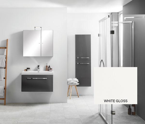 Eko Slab Vanity Unit 750x470mm White Gloss