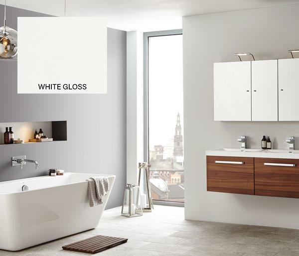 Eko Slab Double Vanity Unit 1100x470 White
