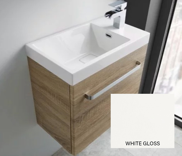 Eko Groove Basin & Unit 450x280 White Gloss
