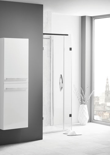 Eko Slab Tall Storage Unit White Gloss