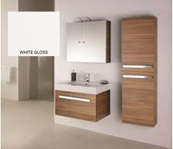 Eko Mirror Wall Cabinet 450x166mm White Gloss