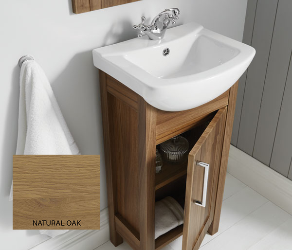 Sendai 450x355 Basin & Unit Natural Oak