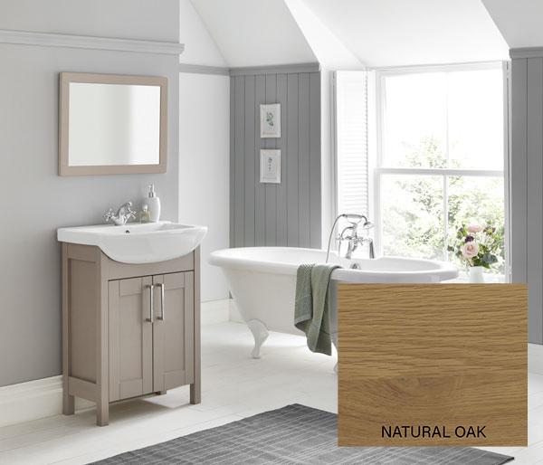 Sendai Vanity Unit 645x415mm Natural Oak