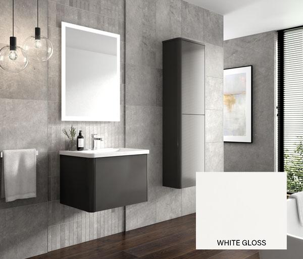Nara Vanity Unit 600x443mm White Gloss