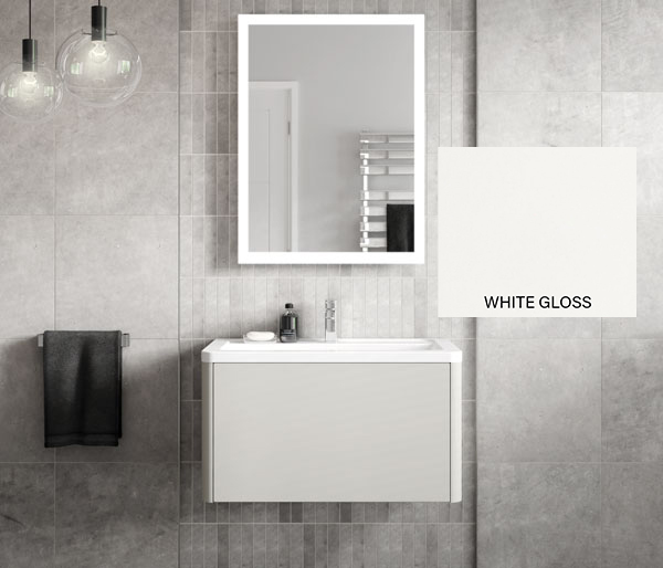 Nara Vanity Unit 750x443mm White Gloss