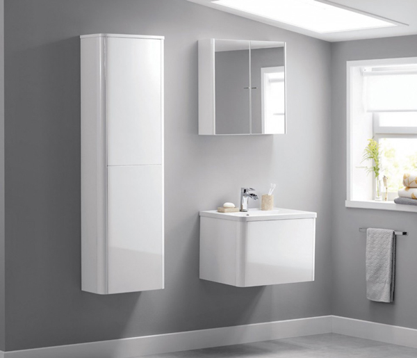 Nara Mirror Cabinet 636mm White Gloss