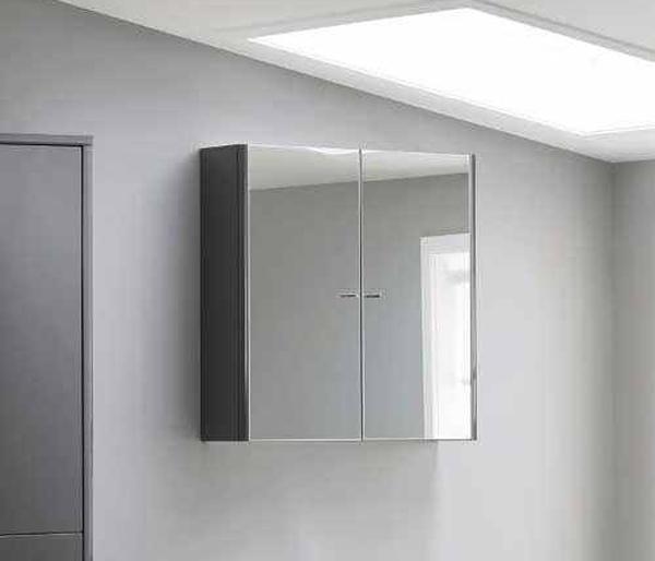 Nara Mirror Wall Cabinet 636x168mm Graphite