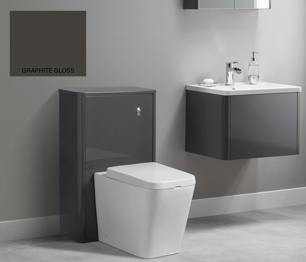 Nara WC Unit 556x242 Graphite Gloss