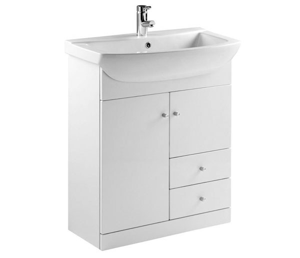 Ikoma Vanity Unit 850x415 White Gloss
