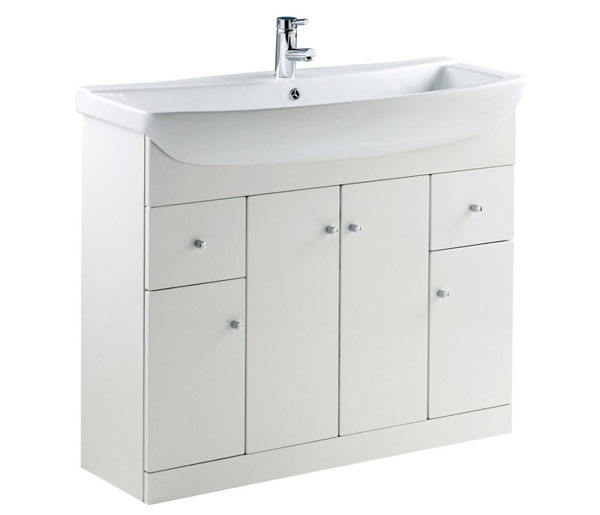 Ikoma Vanity Unit 1045x415 White Gloss