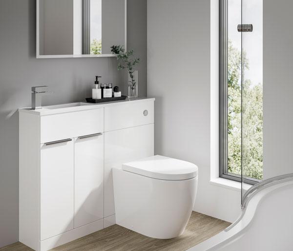 Straight Furniture Set 1006x248mm White Gloss