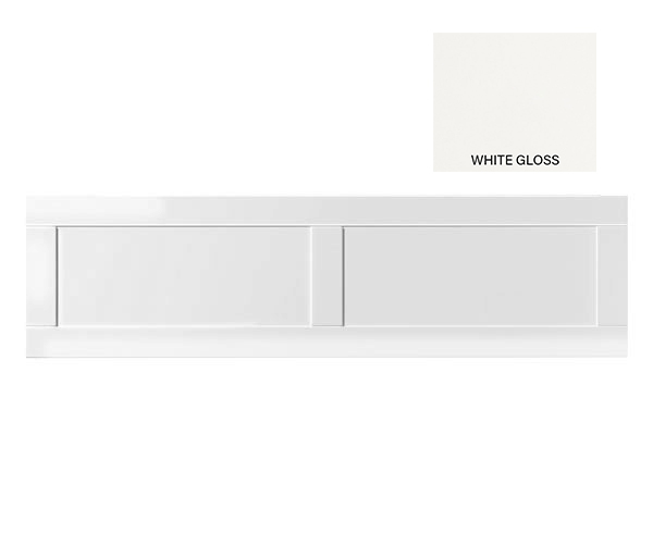 1700mm Shaker Bath Panel White Gloss